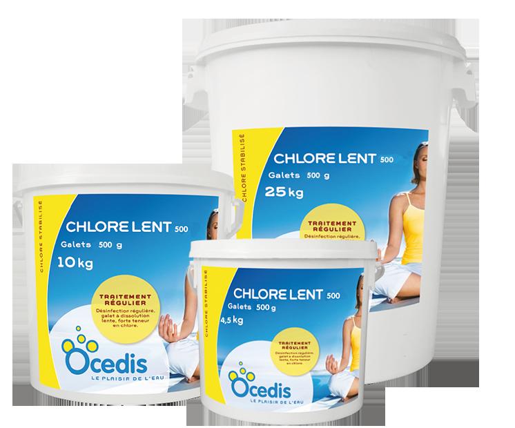 Chlore lent 500 chlore stabilis ocedis melfrance for Chlore dans la piscine