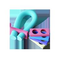 Frite papillon - Frite 2m avec LINK